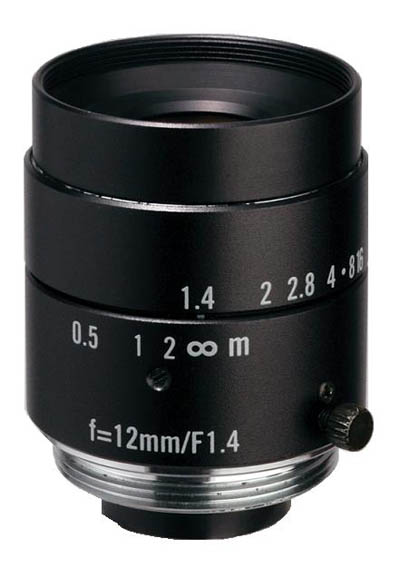 "12mm fl, F1.4, c-mount, 2/3"" Kowa Machine Vision Lens - Click Image to Close"