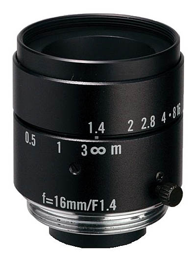 "16mm fl, F1.4, c-mount, 2/3"" Kowa Machine Vision Lens"