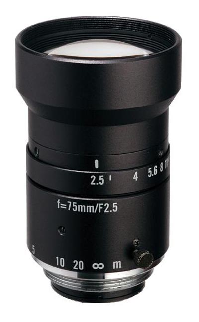 "75mm fl, F2.5, c-mount, 2/3"" Kowa Machine Vision Lens"