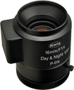 16mm fl, F1.4, P-Iris, C-Mount, Kowa 5 MP Day/Night Lens